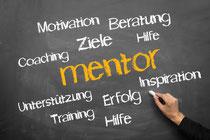 Ein Mentor inspiriert, hilft, motiviert und unterstützt