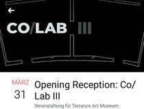 Eröffnung am 31.03.2018, Torrance Art Museum, Los Angeles, USA