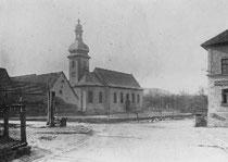 Kirche St. Georg in Oberbalbach (Foto um 1920)