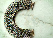 Brass with Lilac & Teal