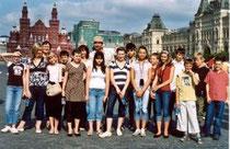 Unsere Besuchergruppe auf dem Roten Platz 2007