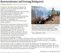 Sächsischer Bote vom 30. August.2014