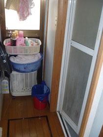 リフォーム前の洗面浴室