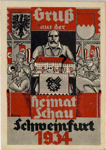 Postkarte anlässlich der Heimatschau 1934