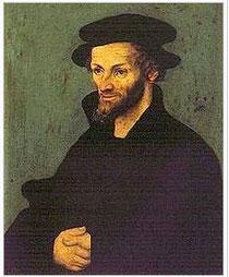 Melanchthon - Gemälde von Lucas Cranach