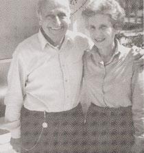 Frau Calvary mit ihrem Ehemann Ernesto Calvary 1984