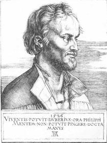 Philipp Schwarzerdt (griechisch: Melanchthon), Professor u. Reformator