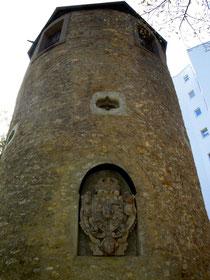 Der Samtturm heute - einst auch Arrestturm