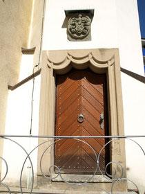 Der Eingang zum Bauschenturm heute