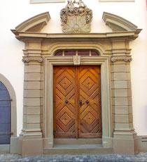 Der Eingang zum Wohnhaus Balthasar Rüffers III. heute in der Metzgergasse