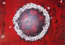 Schwarz Weiß Rote Farbenpracht