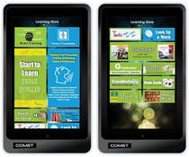 Tablet Startbildschirm zum Sprachen Lernen