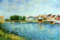 Les bateaux lavoirs sur la Marne de Léo Gausson