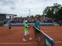 links der Argentinier Diego Sebastian Schwartzmann und rechts Andrey Golubev aus Kasachstan