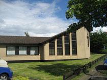 Die Kirche der Mennoniten-Kirche an der Neubrandenburger Straße