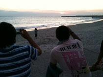 内海の夕日