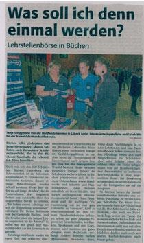 """Bericht aus der Wochenzeitung """"Markt"""" vom 19. September 2012"""