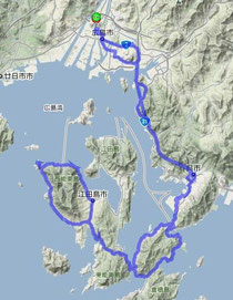 呉ー江田島 全134km