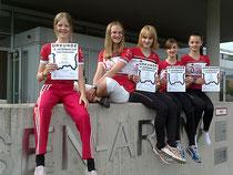 Sabina Weltin, Anne Mahr, Sabine Tausch, Lisa Mahr und Stefanie Tausch