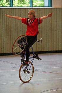 Sabine Tausch bei den Bayerischen Kunstrad-Meisterschaften