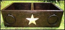 Nickeled Star & Round Towel Holders