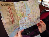 Stadttour-Route