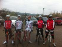 Philippe,Jonathan,Hugo,Jean-Claude et Didier. Fabien était déja sur la ligne de départ !
