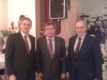 V.l.n.r.: Daniel Günther, MdL, Thorsten Jürgens-Wiechmann (Vorsitzender des CDU-Regionalverbandes Wittensee) und der zukünftige Ministerpräsident Jost de Jager.