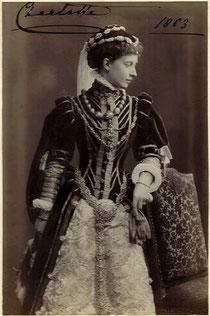 Bild der preußischen Prinzessin Charlotte, spätere Herzogin von Sachsen-Meiningen