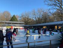 Die Eislaufbahn im Kurpark