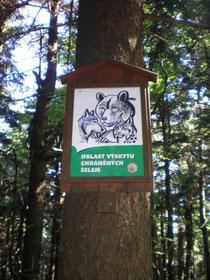 Vorsicht wilde Tiere