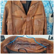 """Ledertextilien geben wir vertrauensvoll in die Hand unseres Partners der """"Vereinigten Lederreinigung """". Diese Jacke wurde einer speziellen Lederreinigung unterzogen inklusive..."""