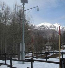 Nivometro della stazione di Pragelato (TO) - quota 1552 m s.l.m.