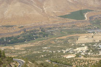 Vallée du Yarmouk, au pied du Golan