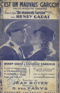 """""""C'est un mauvais garçon"""" par Henri Garat de Van Parys & Jean Boyer"""