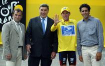 Amstrong, il te reste des amis Drucker, Hinault ou Merckx, Laurent Jalabert, Miguel Indurain