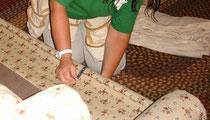 Measuring sofa