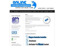 Screenshot Startseite www.onlinevereinswappen.de