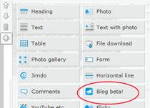 Hier findet ihr das Blog-Beta Element