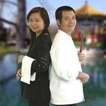 Kin Chuen Li uses his baton to produce millions of Dim Sum, while Christin Li looks after the guests.
