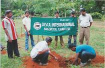 記念日にOISCAスタッフと一緒に植林をしました