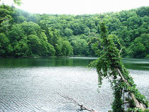 勾玉形の湖、半月湖