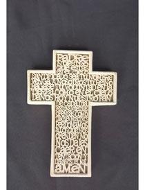 CT101PC Cruz Padre Nuestro letras relieve 15cm