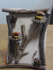 小鳥の巣のオブジェ