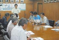 第12回台琉友好親善国際ヨットレース実行委員会が開かれた=19日午後、市役所