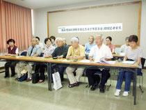 教科書採択問題全国交流会、市民集会について記者会見が行われた=24日午後、市民会館