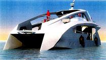 デザインされたEV船(VIBE提供)