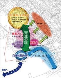 美崎町地区まちづくり構想案図