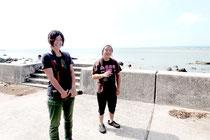 右から吉岡俊朗さんと廣川茜さん