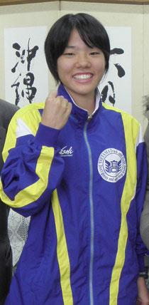 県代表で全国都道府県駅伝大会に出場する平安名由莉選手
